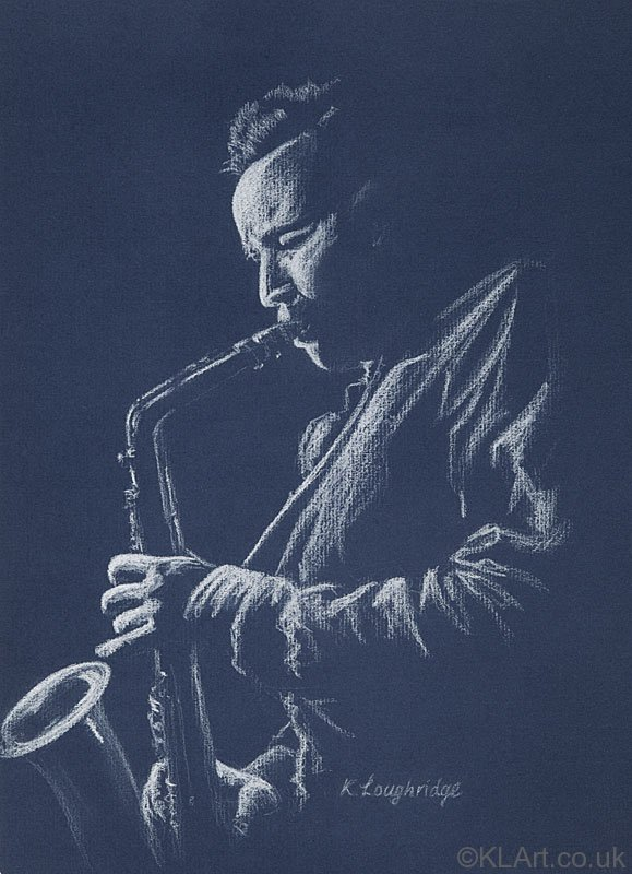 © KLArt.co.uk  Blue Sax