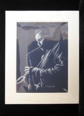 © KLArt.co.uk - Blue Sax Print