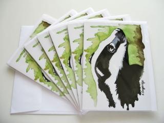 © KLArt.co.uk - Brock Badger Cards