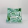 © KLArt.co.uk Shades of Green Glass Dish