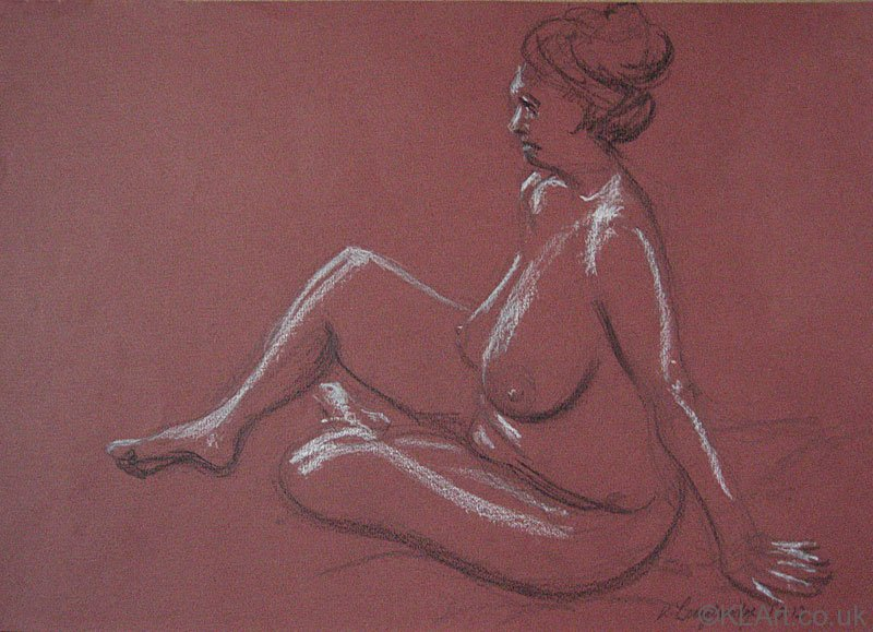 © KLArt.co.uk Female Nude Seated IV