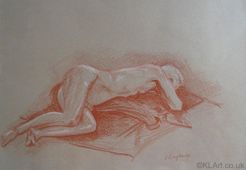 © KLArt.co.uk Male Nude Prone