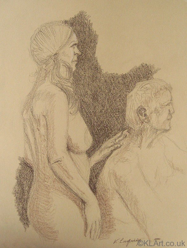 ©KLArt.co.uk Nude Couple Male Seated