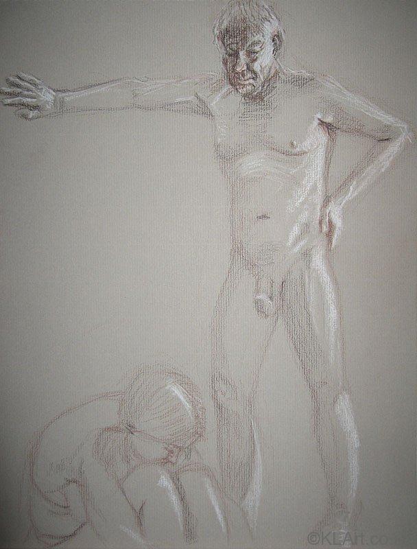 ©KLArt.co.uk Nude Couple Male Standing