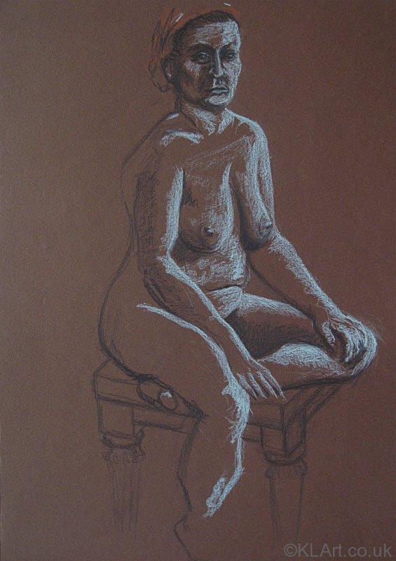 © KLArt.co.uk Female Nude Seated I