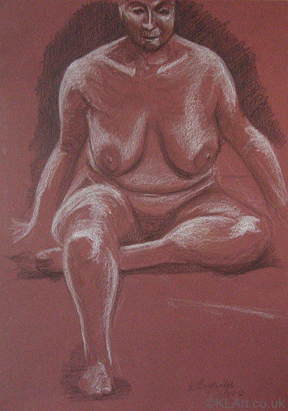 © KLArt.co.uk Female Nude Seated II