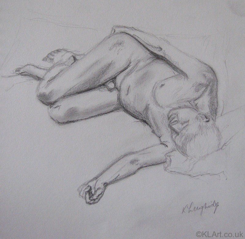 © KLArt.co.uk Male Nude Recumbent
