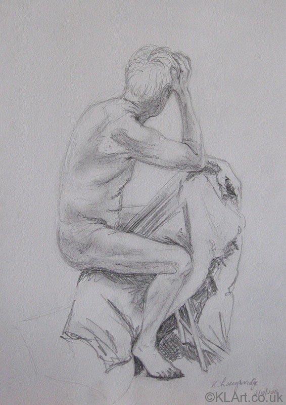 © KLArt.co.uk Male Nude Seated I