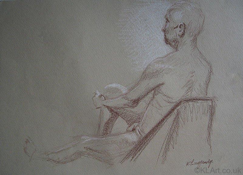 © KLArt.co.uk Male Nude Seated II