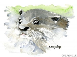 © KLArt.co.uk Curious Otter