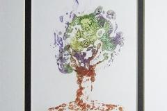 © KLArt.co.uk Encaustic Broccoli