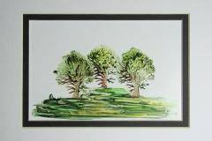 © KLArt.co.uk Encaustic Forest
