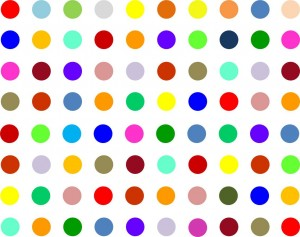 Coloured spots image
