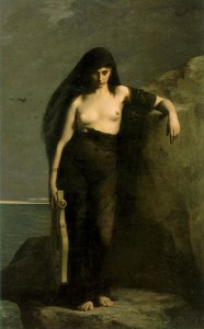 Painting of Sappho by Charles Mengin (1877)