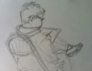 Sketch of Josh sketching