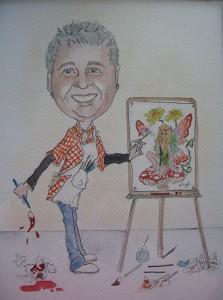 Karen's caricature portrait