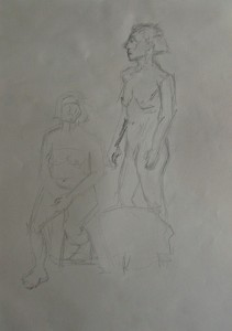 Female nudes sketch 1