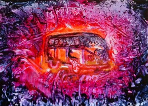 Encaustic painted VW