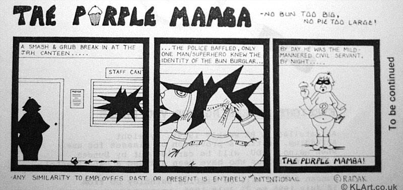 Purple Mamba Cartoon strip