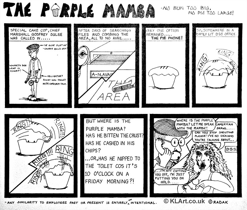 Purple Mamba cartoon strip Part 2