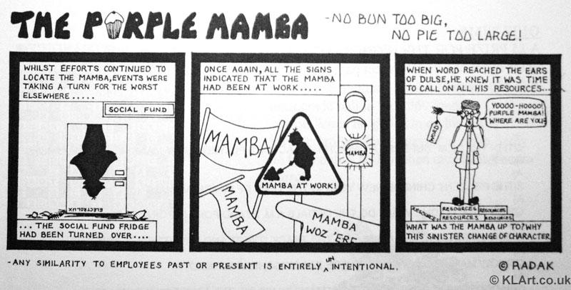 Purple Mamba Cartoon strip Part 3