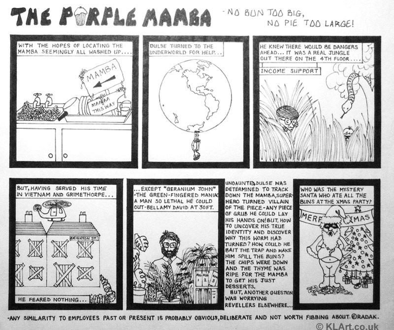 Purple Mamba cartoon strip Part 4