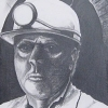 Portrait of a Pit Man with head lamp