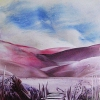 """Purple Landscape"" abstracted image"