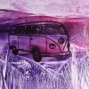 """VW Camper"" in an abstracted landscape"