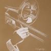 Image of Sacred Trombone pastel painting