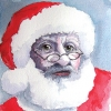 "Christmas Cards - ""Father Christmas"" traditional watercolour reproduction"