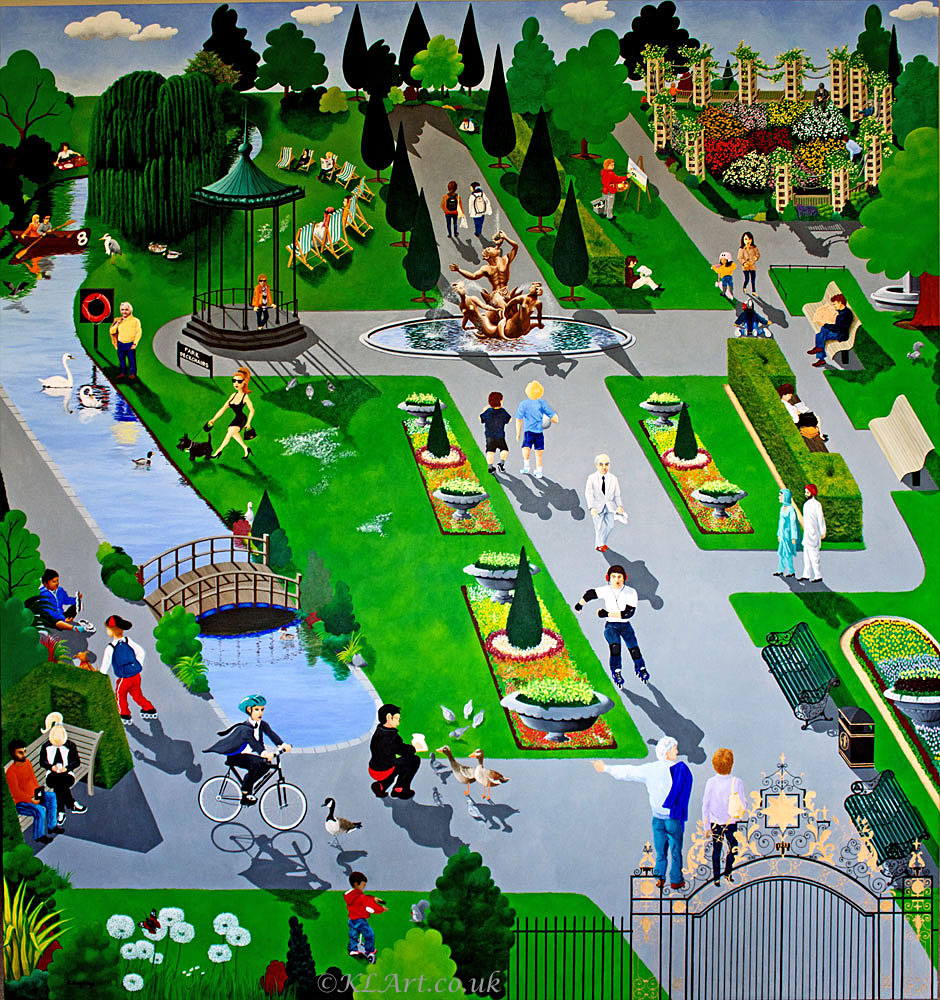Painting of Regents Park scenes