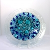 Blue Bubble Turquoise and royal blue bubbled decorative plate