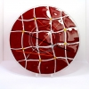 Red Checkers glass plate