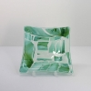 Shades of Green small square glass dish